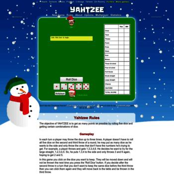 yahtzee-game com at WI  Yahtzee | Play it online