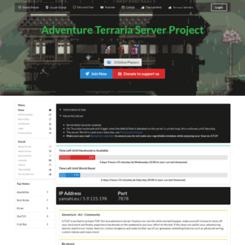 yamahi eu at WI  Adventure Terraria Server Project