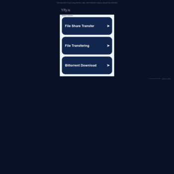 yify is at WI  The Official Home of YIFY Movie Torrent