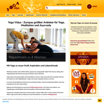 Yoga-vidya.de thumbnail