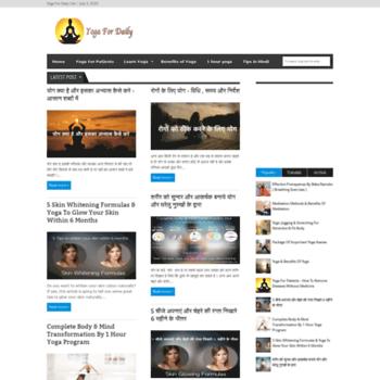 yogafordaily com at WI  Yoga For Daily Life