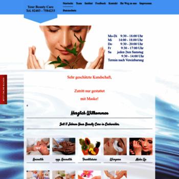 Yourbeautycare.de thumbnail