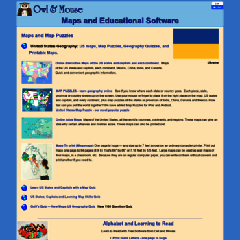 yourchildlearns.com at WI. Educational - Maps, Learn to ... on