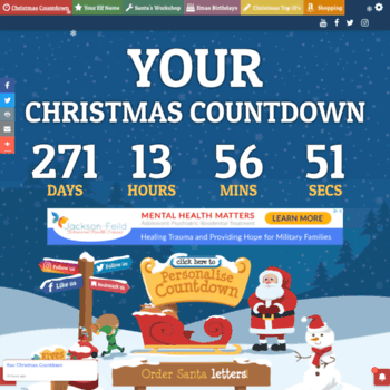 yourchristmascountdowncom thumbnail - How Many Days Are There Until Christmas