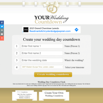 Yourweddingcountdown Com At Wi Wedding Day Countdown Count Down