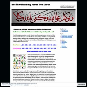 Yousafali011 Wordpress Com At Wi Muslim Girl And Boy Names From