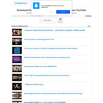 yousubtitles com at WI  Download subtitles (closed captions