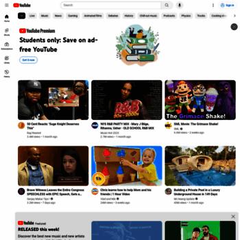 Веб сайт youtube.com