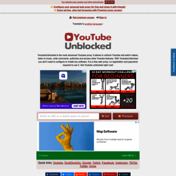 youtubeunblocked live at WI  The most advanced Youtube proxy