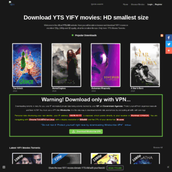 ytsag live at WI  The Official Home of YIFY Movies Torrent