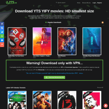 ytsag me at WI  YTS - The Official Home of YIFY Movies