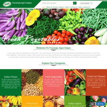yuvarajuagroimpex com at WI  Fresh Fruits & Vegetables Suppliers