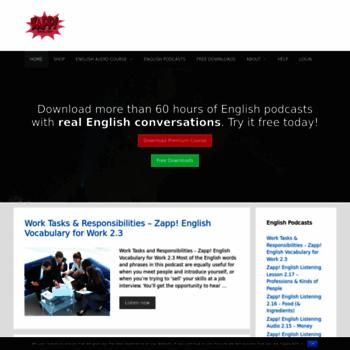 zappenglish com at WI  REAL English Conversations – Free English