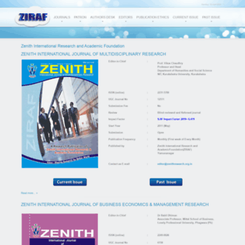 Zenithresearch.org.in thumbnail