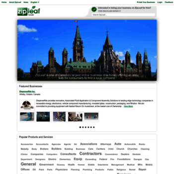 zipleaf ca at WI  Canada Business Directory