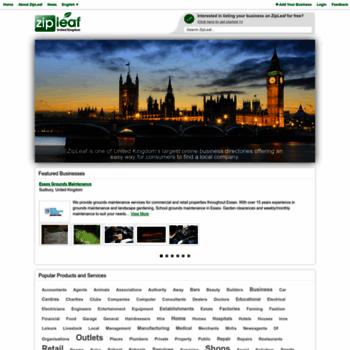 Zipleaf.co.uk thumbnail