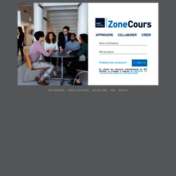 Zonecours2.hec.ca thumbnail