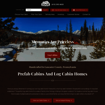 zookcabins com at WI  Log Cabins For Sale | Log Cabin Homes | Log