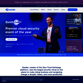 zscaler com at WI  Zscaler Cloud Security — Secure Your