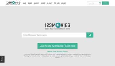What 0123movie.net website looked like in 2020 (1 year ago)