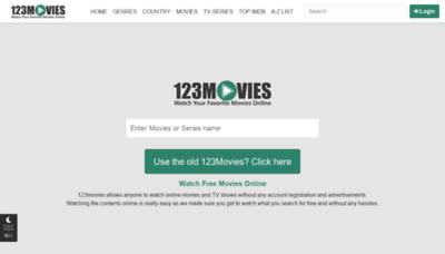 What 0123movie.net website looks like in 2021