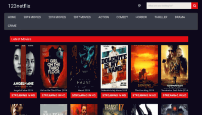 What 123netflix.club website looked like in 2019 (1 year ago)