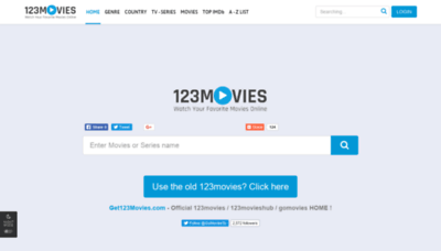 What 123movieshub.sc website looked like in 2020 (1 year ago)