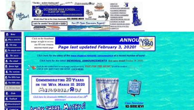 What 1960sailors.net website looked like in 2020 (1 year ago)