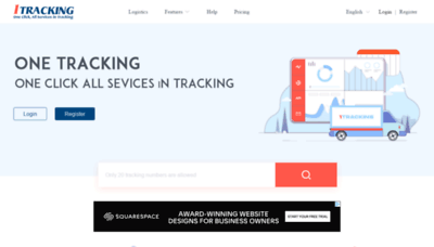 What 1tracking.net website looked like in 2020 (1 year ago)