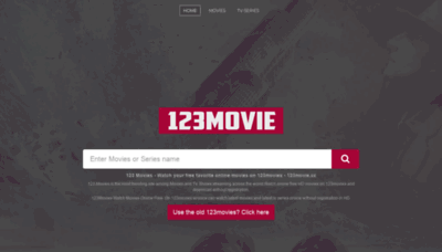 What 123movies.exchange website looked like in 2020 (1 year ago)