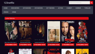 What 123netflix.club website looked like in 2020 (1 year ago)