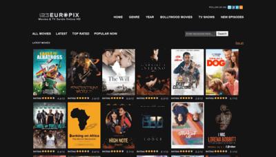 What 123europix.net website looked like in 2020 (1 year ago)