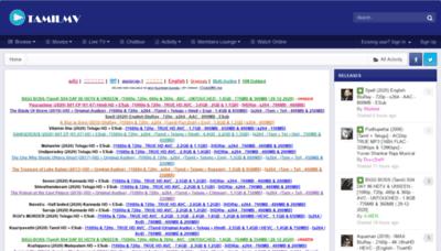 What 1tamilmv.net website looked like in 2020 (This year)