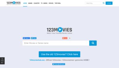 What 123movieshub.sc website looks like in 2021
