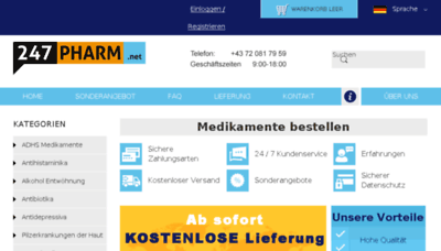 What 247pharm.net website looked like in 2018 (3 years ago)