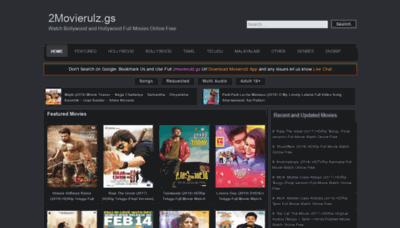What 2movierulz.gs website looked like in 2019 (2 years ago)