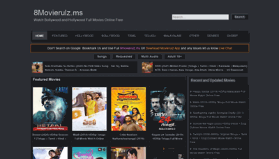 What 2movierulz.gs website looked like in 2020 (1 year ago)
