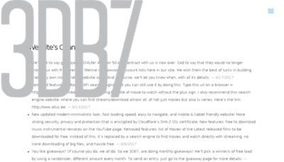 What 3db7.xyz website looked like in 2017 (4 years ago)