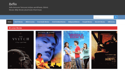 What 8xflix.org website looked like in 2020 (1 year ago)