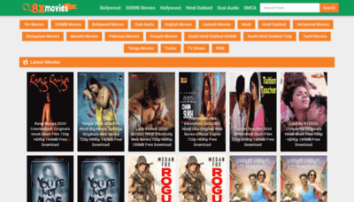 What 8xmovies.biz website looked like in 2020 (This year)