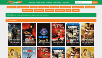 What 9xmovies.wiki website looked like in 2018 (2 years ago)