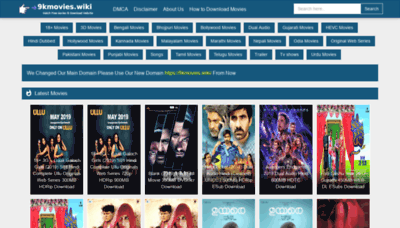 What 9kmovies.wiki website looked like in 2019 (2 years ago)