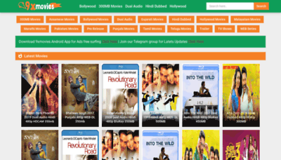 What 9xmovies.ind.in website looked like in 2019 (2 years ago)