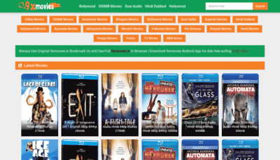 What 9xmovies.wiki website looked like in 2020 (1 year ago)
