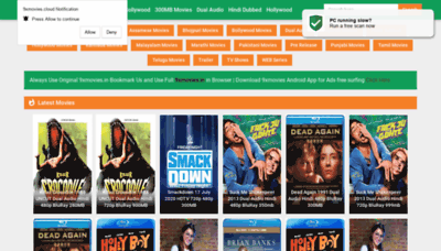 What 9xmovies.ind.in website looked like in 2020 (1 year ago)