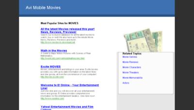 What Avimobilemovies.net website looked like in 2013 (7 years ago)