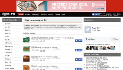 What Apni.tv website looked like in 2016 (5 years ago)