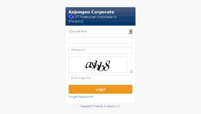 What Anjungan.pelindo.co.id website looked like in 2016 (4 years ago)