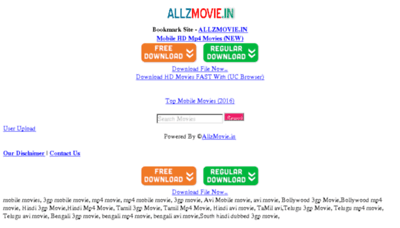What Allzmovie.in website looked like in 2017 (4 years ago)