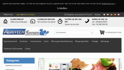 What Agritechstore.de website looked like in 2017 (4 years ago)